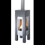 Hase Modena Gas Zwart/Zilvergrijs Bovenplaat Inox