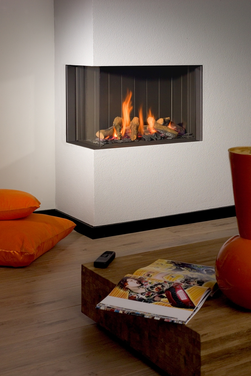Corner Gas Fire Place