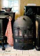 antieke kachel