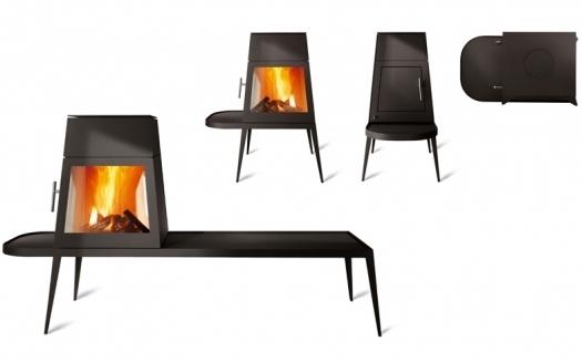 skantherm fireworks shaker lange bank houtkachel. Black Bedroom Furniture Sets. Home Design Ideas